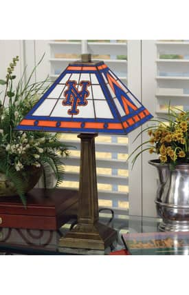 The Memory Company MLB New York Mets MLB Resin Table Lamp in Brass Finish Lighting