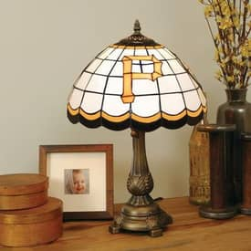 The Memory Company MLB Pittsburgh Pirates MLB Tiffany Table Lamp in Brass Finish Lighting