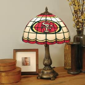 The Memory Company NFL San Francisco 49ers NFL Tiffany Table Lamp in Brass Finish Lighting