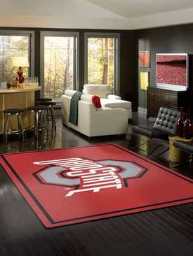 Milliken Team Spirit University Of Ohio State Rug
