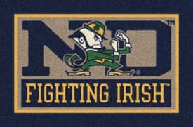 Milliken Team Spirit University Of Notre Dame Fighting Irish Rug