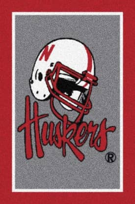 Milliken Team Spirit University Of Nebraska Huskers Rug