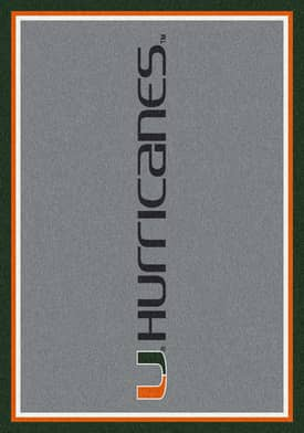 Milliken Team Spirit University Of Miami Rug