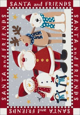 Milliken Seasonal Santa and Friends Rug