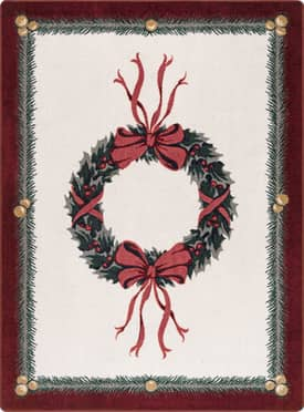 Milliken Seasonal Holiday Wreath Rug