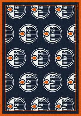 Milliken NHL Team Repeat Edmonton Oilers Rug