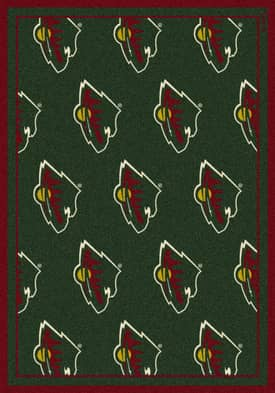 Milliken NHL Team Repeat Minnesota Wild Rug