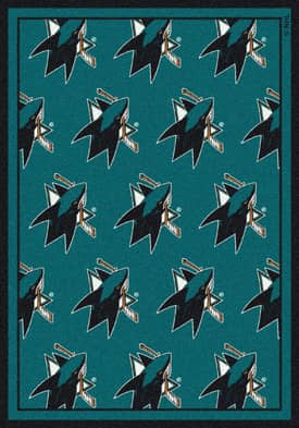 Milliken NHL Team Repeat San Jose Sharks Rug