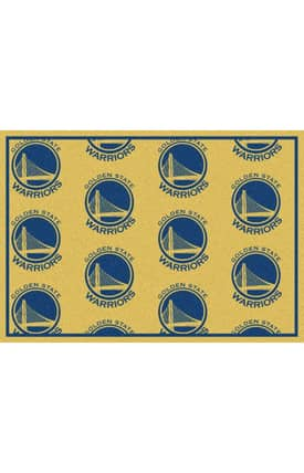 Milliken NBA Team Repeat Golden State Warriors Rug