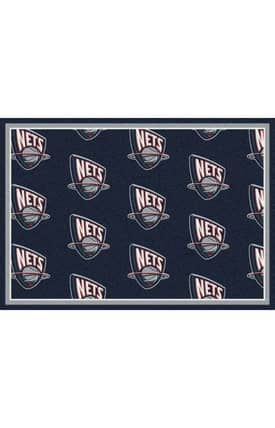 Milliken NBA Team Repeat New Jersey Nets Rug