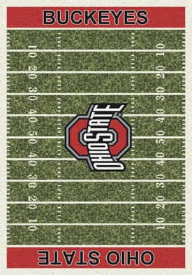 Milliken College Home Field Ohio State Buckeyes Rug
