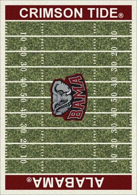 Milliken College Home Field Alabama Crimson Tide Rug
