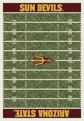 Milliken College Home Field Arizona State Sun Devils Rug