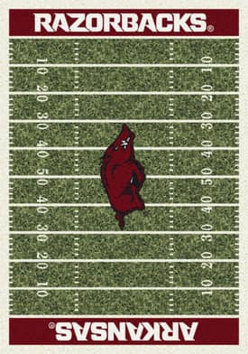 Milliken College Home Field Arkansas Razorbacks Rug
