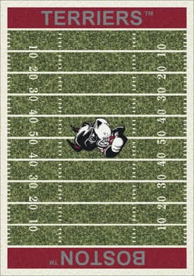 Milliken College Home Field Boston Terriers Rug