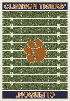 Milliken College Home Field Clemson Tigers Rug