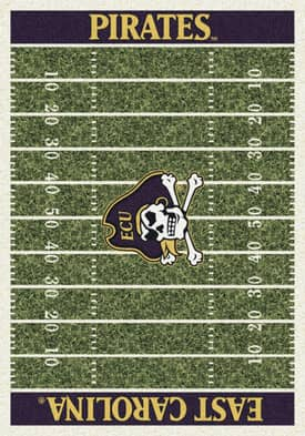 Milliken College Home Field East Carolina Pirates Rug