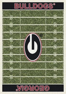 Milliken College Home Field Georgia Bulldogs Rug