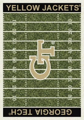 Milliken College Home Field Georgia Tech Yellow Jackets Rug