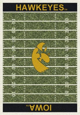 Milliken College Home Field Iowa Hawkeyes Rug