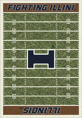 Milliken College Home Field Illinois Fighting Illini Rug