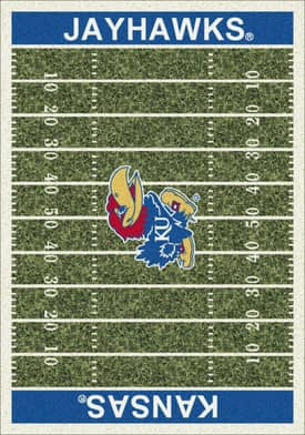 Milliken College Home Field Kansas Jayhawks Rug