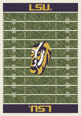 Milliken College Home Field LSU Fighting Tigers Rug