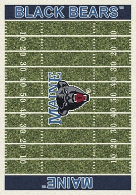 Milliken College Home Field Maine Black Bears Rug