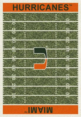 Milliken College Home Field Miami Hurricanes Rug