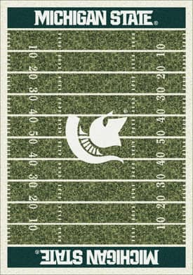 Milliken College Home Field Michigan State Spartans Rug