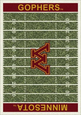 Milliken College Home Field Minnesota Gophers Rug