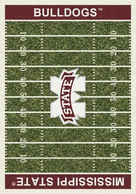 Milliken College Home Field Mississippi State Bulldogs Rug