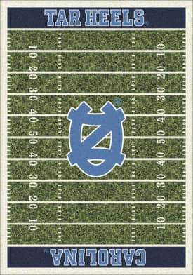 Milliken College Home Field North Carolina Tar Heels Rug