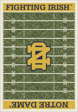 Milliken College Home Field Notre Dame Fighting Irish Rug