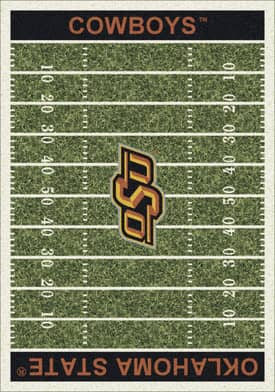 Milliken College Home Field Oklahoma State Cowboys Rug