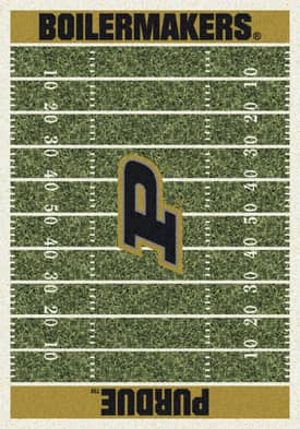 Milliken College Home Field Purdue Boilermakers Rug
