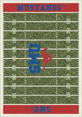 Milliken College Home Field SMU Mustangs Rug