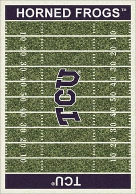 Milliken College Home Field Texas Christian Hornfrogs Rug