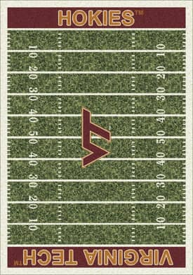 Milliken College Home Field Virginia Tech Hokies Rug