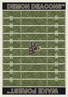 Milliken College Home Field Wake Forest Demon Deacons Rug