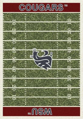Milliken College Home Field WSU Cougars Rug