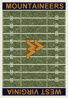 Milliken College Home Field West Virginia Mountaineers Rug