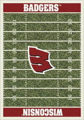 Milliken College Home Field Wisconsin Badgers Rug