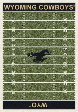 Milliken College Home Field Wyoming Cowboys Rug