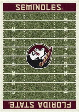 Milliken College Home Field Florida State Seminoles Rug