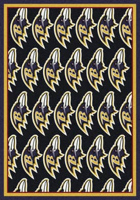 Milliken NFL Team Repeat Baltimore Ravens Rug