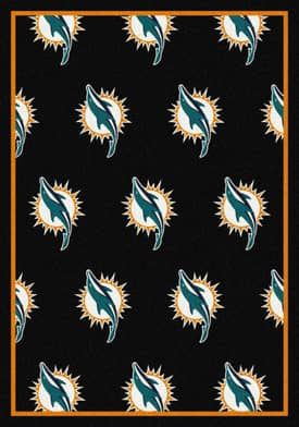 Milliken NFL Team Repeat Miami Dolphins Rug