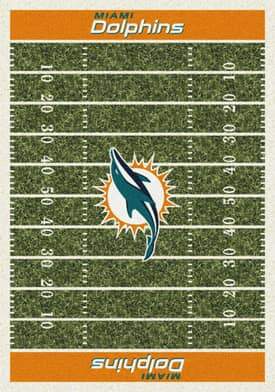 Milliken NFL Home Field Miami Dolphins Rug