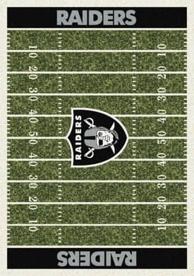 Milliken NFL Home Field Oakland Raiders Rug