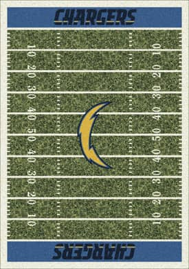 Milliken NFL Home Field Los Angeles Chargers Rug